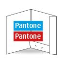 Dokumappe, einseitig, 2-farbig Pantone + Pantone