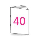 Broschüre A4, 250/135gm, 40-seitig, Bilderdruck/Naturpapier