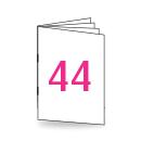Broschüre DIN Lang, 250/135gm, 44-seitig, Bilderdruck/Naturpapier