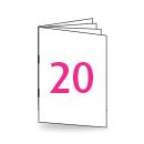 Broschüre DIN Lang, 250/135gm, 20-seitig, Bilderdruck/Naturpapier