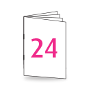Broschüre DIN Lang, 250/135gm, 24-seitig, Bilderdruck/Naturpapier