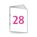 Broschüre DIN Lang, 250/135gm, 28-seitig, Bilderdruck/Naturpapier