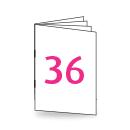 Broschüre DIN Lang, 250/135gm, 36-seitig, Bilderdruck/Naturpapier