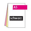 Durchschreibesatz A5, 3-teilig, je vorderseitig schwarz
