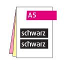 Durchschreibesatz A5, 2-teilig, beidseitig, 1-farbig schwarz
