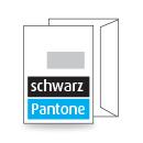 Kuvert C4, einseitig, 2-farbig schwarz + Pantone