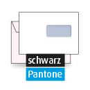 Kuvert C5, beidseitig, 2-farbig schwarz + Pantone