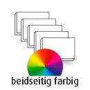 Visitenkarte, extradick, beidseitig, 4-farbig CMYK