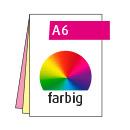 Durchschreibesatz A6, 2-teilig, je vorderseitig 4-farbig CMYK