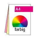 Durchschreibesatz A5, 3-teilig, je vorderseitig 4-farbig CMYK