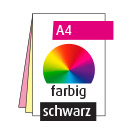 Durchschreibesatz A4, 2-teilig, beidseitig, 4/1-farbig CMYK