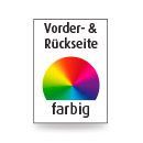 Briefpapier A4, Vorder- & Rückseite, 4-farbig CMYK