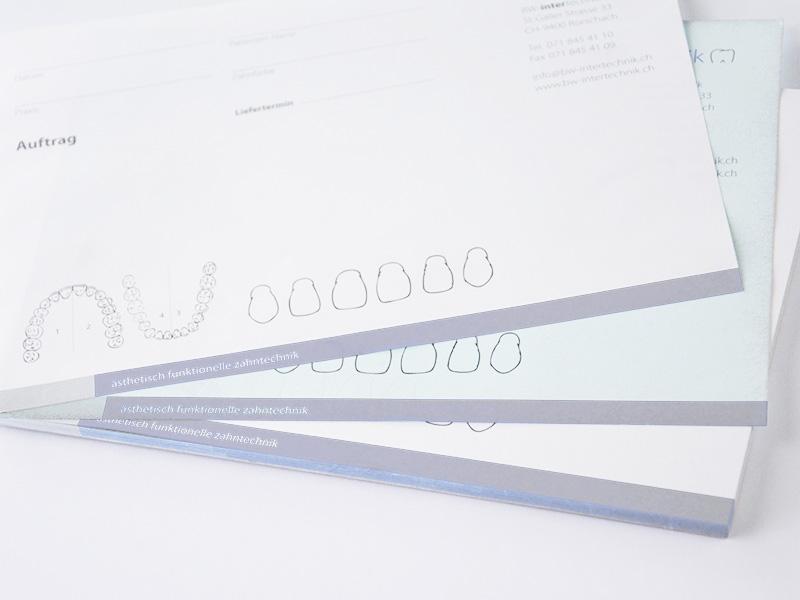 Block Durchschreiben Drucken