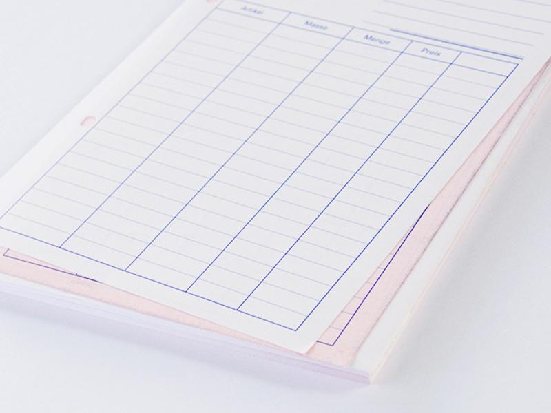 Durchschreibeblock Drucken