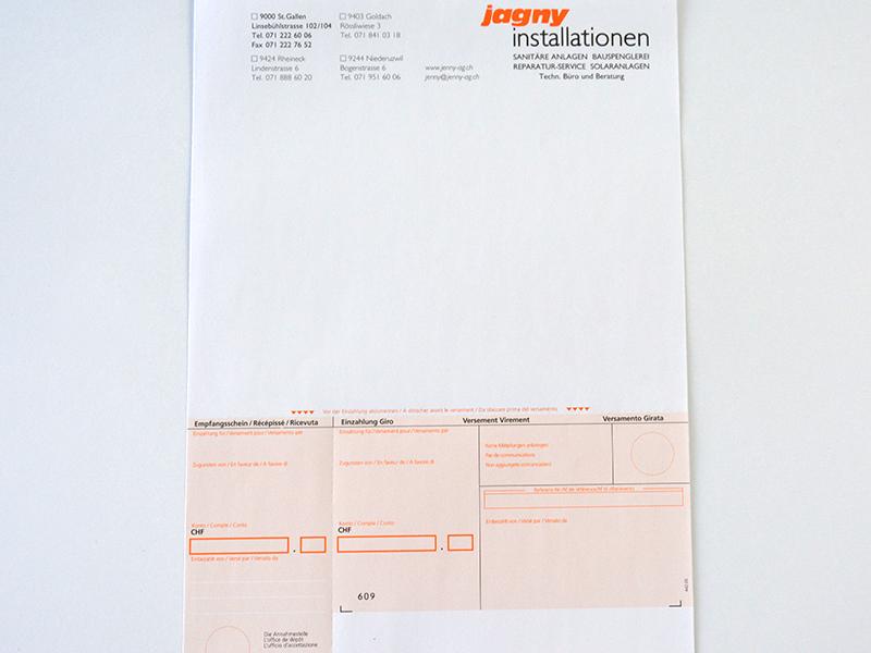 Einzahlungsschein A4 Drucken